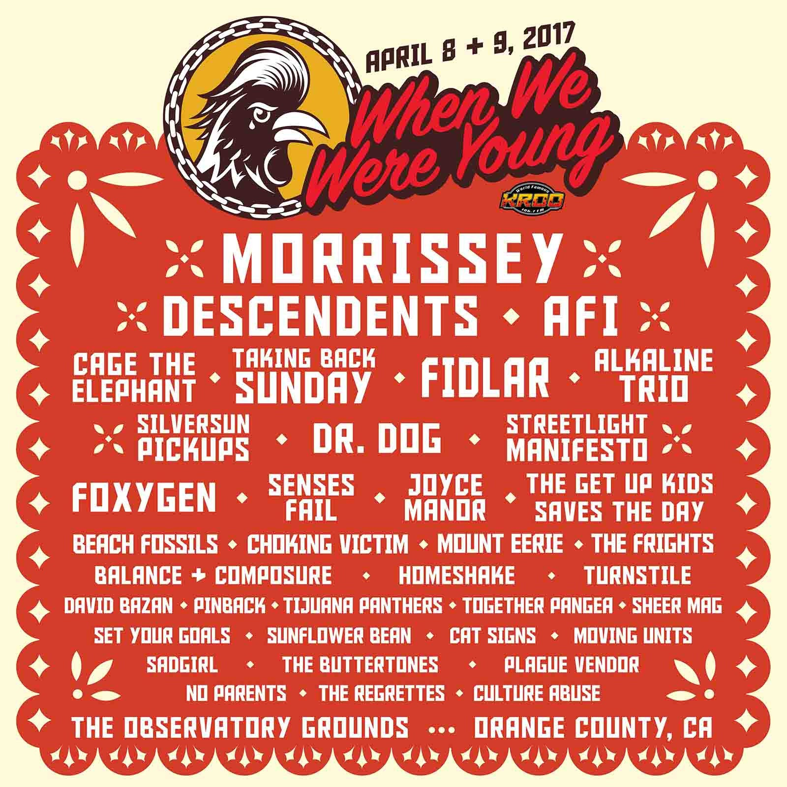 Observatory show when we were young morrissey descendents afi