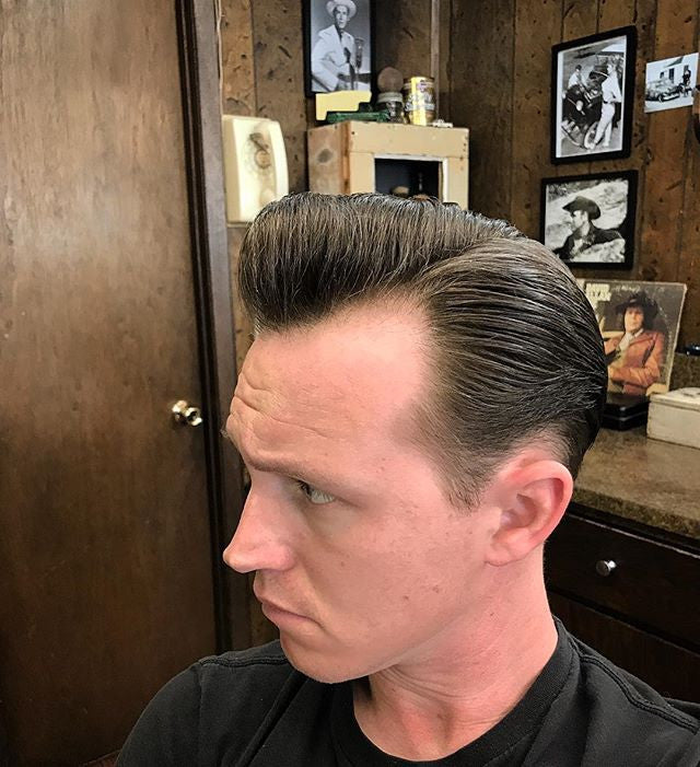 nspiva_ pompadour hair with suavecito pomade in it