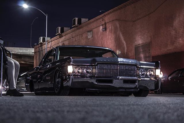 beautiful Lincoln Continental riding low to the ground