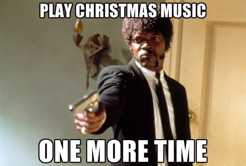 pulp fiction christmas music meme