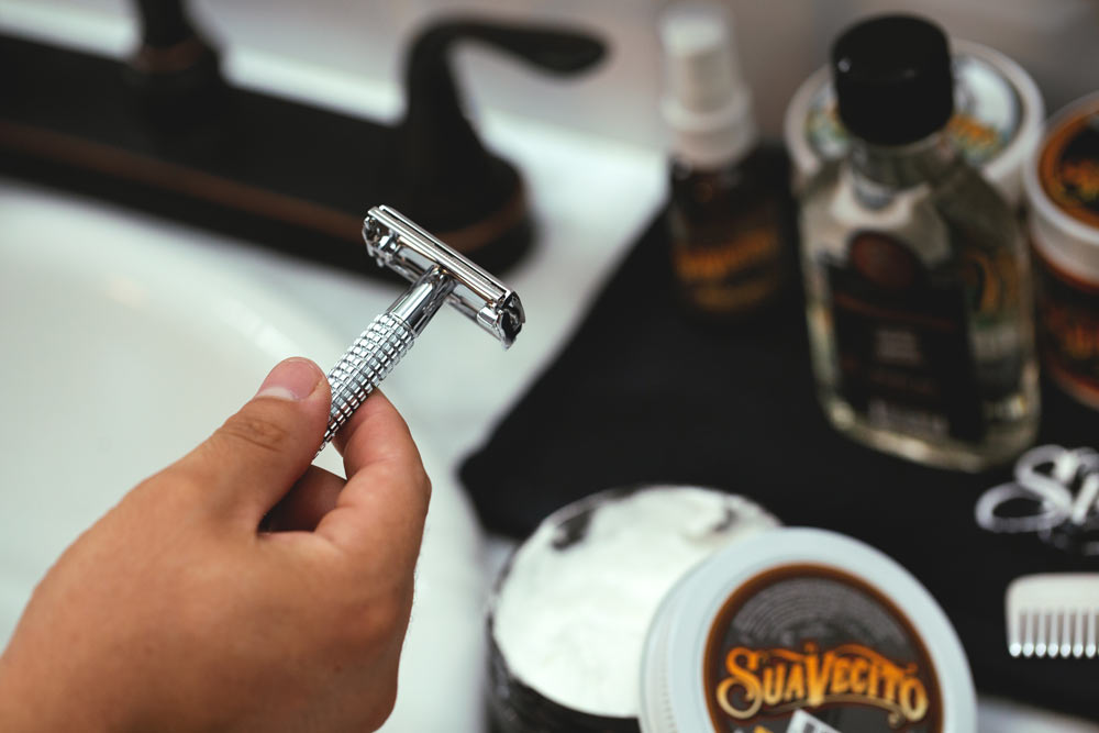 Safety razor and shaving cream