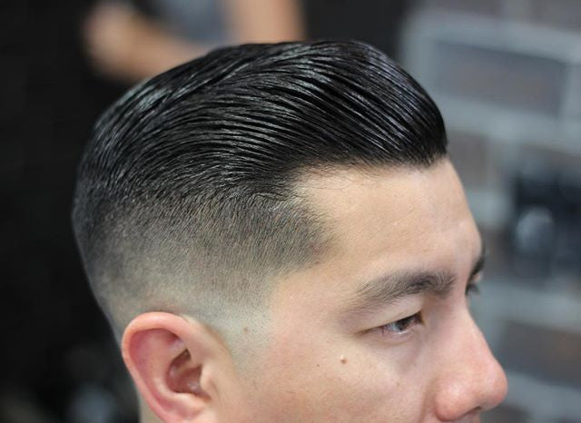 rob_salas - side part haircut styled with suavecito pomade