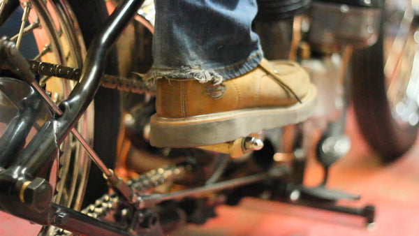 Suavecito Pomade Motorcycle Pedal View