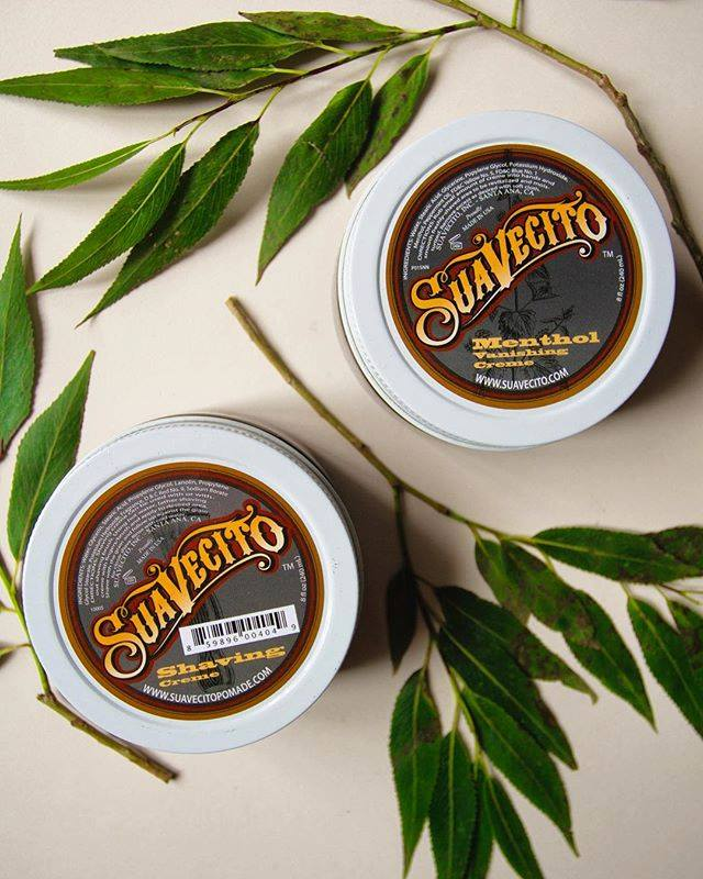 shaving cream and menthol aftershave from suavecito pomade