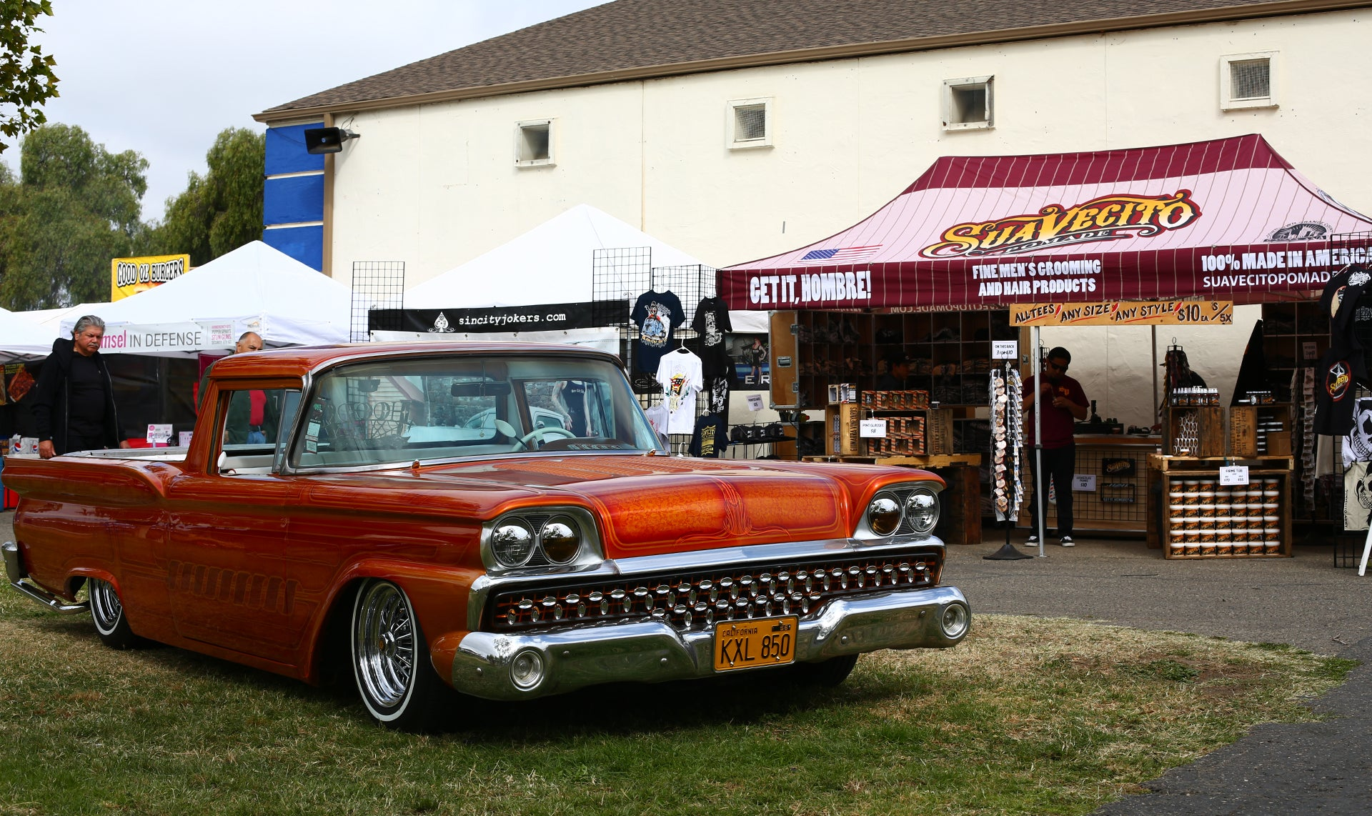 1959 Ford Ranchero Posted in front of the Suavecito Pomade Booth