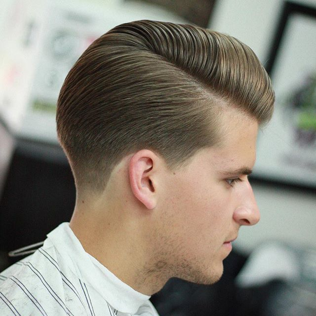 spearhead.barbers - side part pomp suavecito pomade