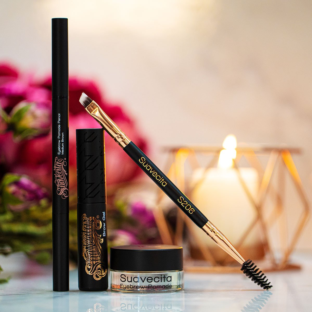 Suavecita Eye Brow Pomade and Brushes