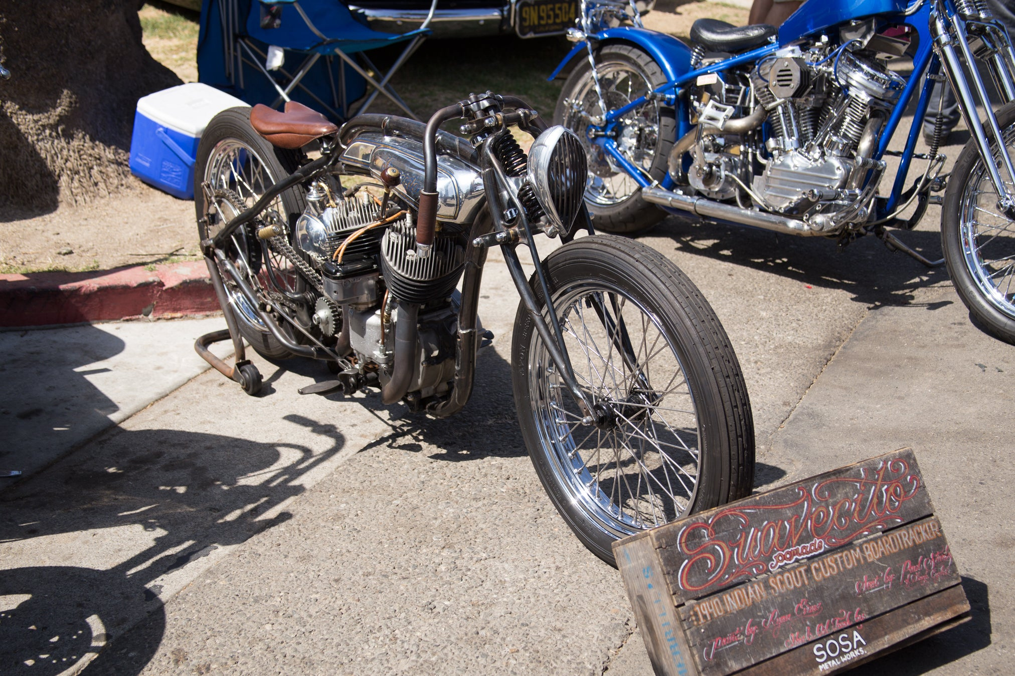 Suavecito Pomade 1940 Indian Scout Custom Boartracker