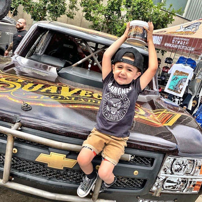 Kid on Trophy Truck