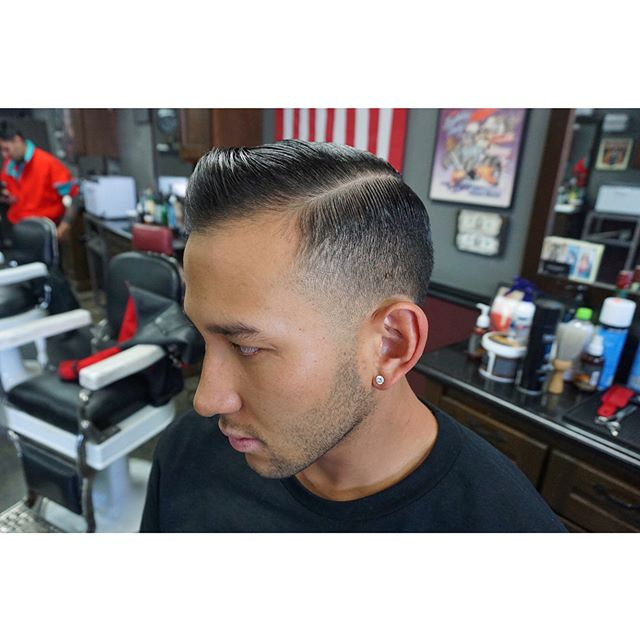 thelodgebarberco - constancios hair glistening with suavecito pomade in it