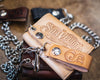 Men's Tri-Fold Chain Wallet - Natural