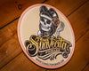 Suavecita Top Logo Embossed Metal Sign