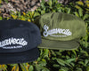 Chain Stitch Hat - Green