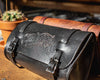 Leather Biker Bag - Black