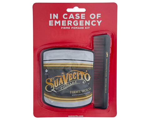 Suavecito Pomade In Case of Emergency Firme with Comb Package Front