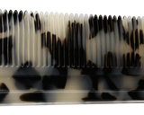 Black Ivory Handle Comb - Teeth Close Up