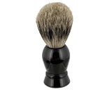 Black Resin Shave Brush - Front View