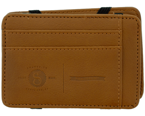 Premium Blends Brown Embossed Magic Wallet - Front
