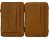 Premium Blends Brown Embossed Magic Wallet - Open