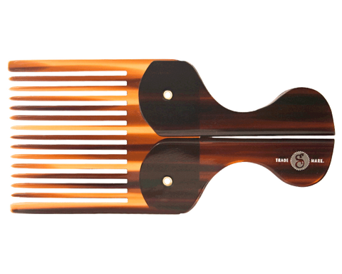 Folding Pocket Beard Comb - Front View