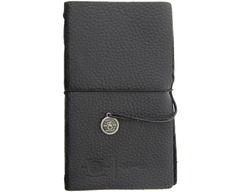 Leather Notebook - Closed Front View