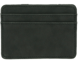 Premium Blends Matte Black Embossed Magic Wallet - Back