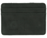 Premium Blends Matte Black Embossed Magic Wallet - Front