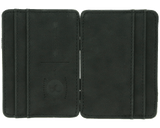 Premium Blends Matte Black Embossed Magic Wallet - Open