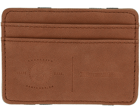 Premium Blends Embossed Magic Wallet - Matte Brown