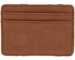 Premium Blends Matte Brown Embossed Magic Wallet - Front