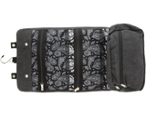 Black Canvas Toiletry Bag - Open
