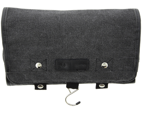 Black Canvas Toiletry Bag - Front