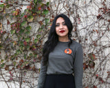 Espina Tee - Army Long Sleeve - Model is wearing a size small tee.