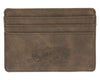 Card Holder Wallet - Dark Brown - Front