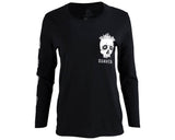 Crystal Skull Tee - Black Long Sleeve - Front