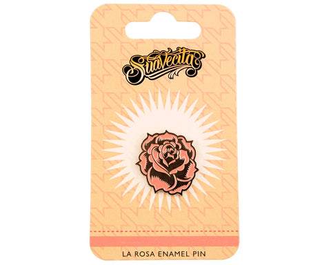 La Rosa Enamel Pin - Packaging Front