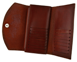Antique Brown Women's Wallet - Open
