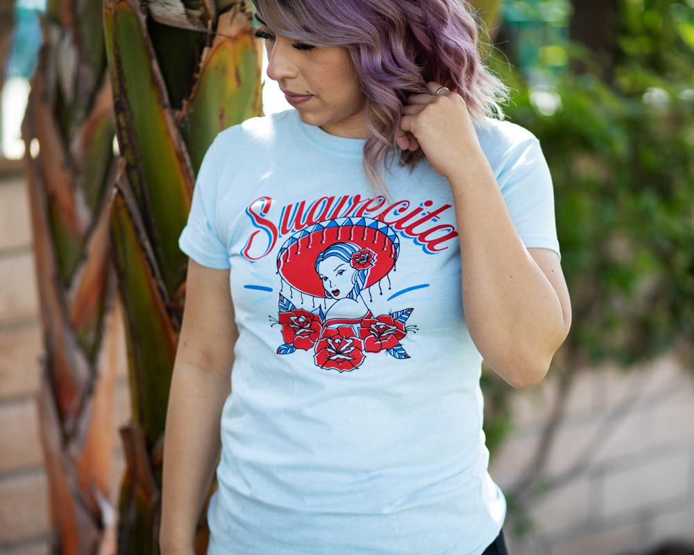 695afa19b292 Mariachi Tee - Light Blue – Suavecito | Hair Pomade | Barber Products