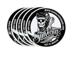 Suavecita B & W Top Logo Stickers 5 Pack