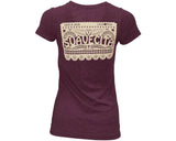 Papel Picado Maroon Tee - Back