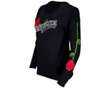 Red Thorn Tee - Black Long Sleeve - Angled