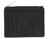 Zipper Card Holder Wallet - Black - Back