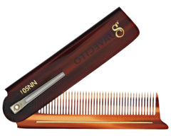 Deluxe Amber Folding Comb Folded