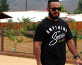 Anything for Suavecitas Tee - Model is wearing a size large tee.