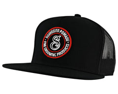 Bad Hombre Black Trucker Hat - Angled