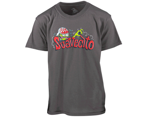 Suavecito Drag Nut Kid's Charcoal Tee - Front