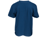 Finger Scoop Blue Tee - Back