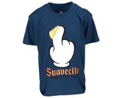 Finger Scoop Blue Tee - Front