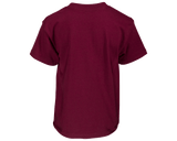 Finger Scoop Burgundy Tee - Back