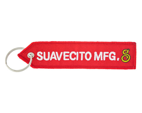 Red Key Tag With Suavecito MFG Logo